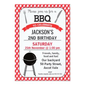 GRILLEN Geburtstags-Party Einladung