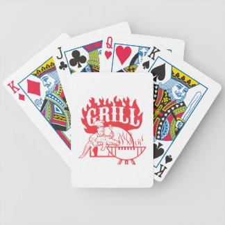 GRILLEN Koch tragen den Retro Alligatorgrill Bicycle Spielkarten