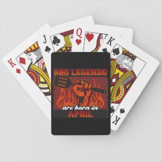 GRILLEN Legenden sind im April geboren Spielkarten