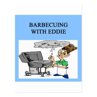 Grillen mit Ed Postkarte