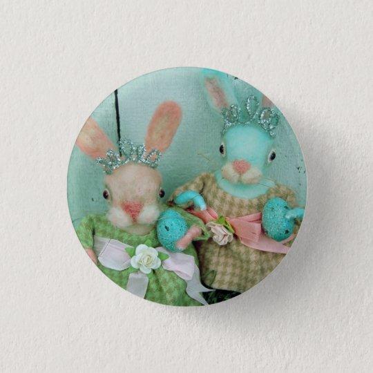 Grimitives süße Häschen-Puppen-Knöpfe Runder Button 2,5 Cm
