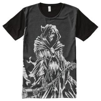 Grimmiger Sensenmann T-Shirt Mit Komplett Bedruckbarer Vorderseite