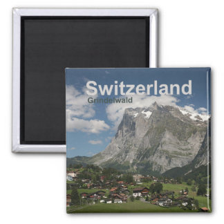 Grindelwald die Schweiz Magnet-Reise-Andenken Quadratischer Magnet