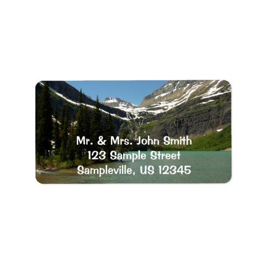 Grinnell See am Glacier Nationalpark Adress Aufkleber