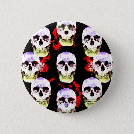 Grinsen von Halloween-Schädeln Runder Button 5,7 Cm