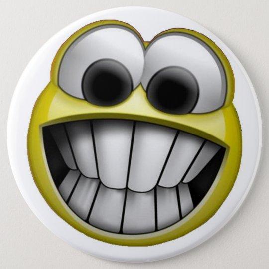 Grinsender glücklicher Smiley Runder Button 15,3 Cm