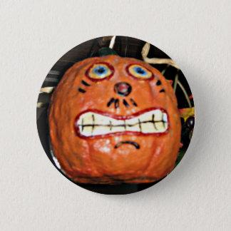 Grinsender Kürbis Runder Button 5,1 Cm