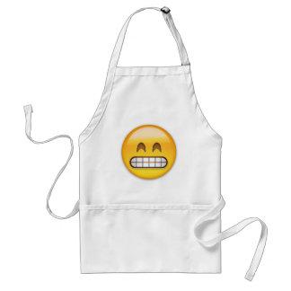Grinsendes Gesicht mit lächelnden Augen Emoji Schürze