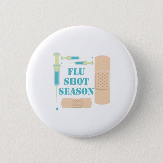 Grippeimpfung Runder Button 5,7 Cm