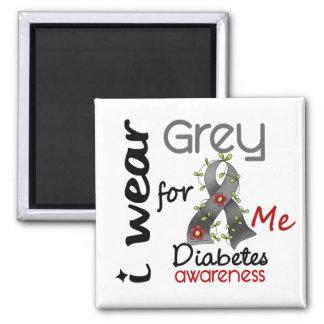 Gris d'usage du diabète I pour MOI 43 Magnet Carré