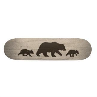 Grizzly-Bär mit CUB-Silhouetten Individuelle Skateboarddecks