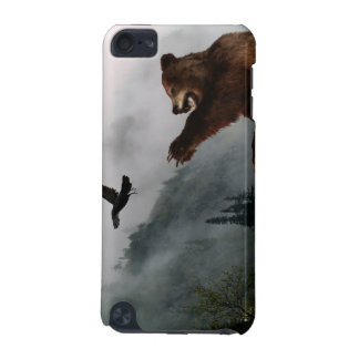 Grizzly-Bärn-u. Raben-Tier-Kunst-IPod-Touch-Fall iPod Touch 5G Hülle