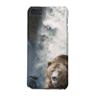 Grizzly-Bärn-u. Wasserfall-Tier-IPod-Touch-Fall iPod Touch 5G Hülle