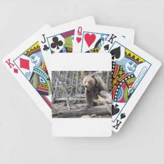 Grizzlybär in Yellowstone Nationalpark USA Bicycle Spielkarten