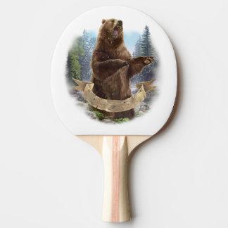 Grizzlybär-Klingeln Pong Paddel Tischtennis Schläger