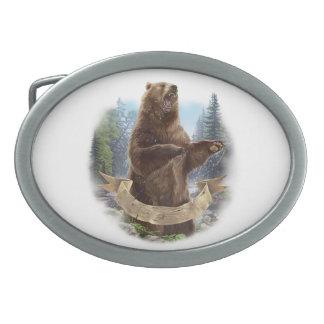 Grizzlybär-ovale Gürtelschnalle