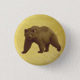 Grizzlybär Runder Button 3,2 Cm