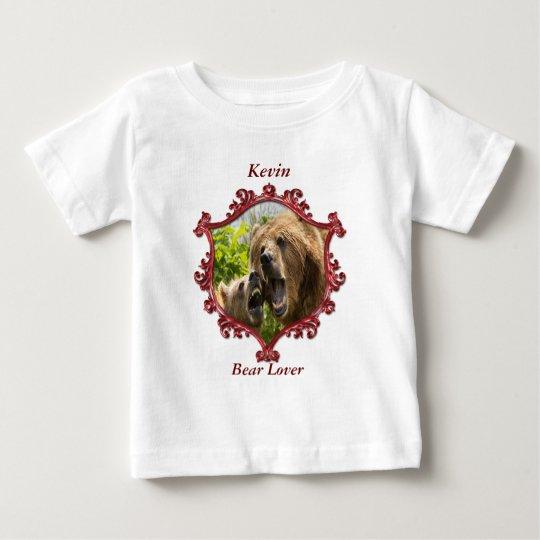 Grizzlybär und Baby mit großem teeth.red Baby T-shirt