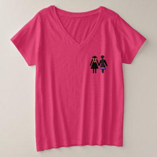 GRLZ auf Ferien Große Größe V-Ausschnitt T-Shirt