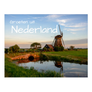Groeten uit Nederland Windmühlenpostkarte Postkarte