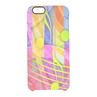 Groovy musikalisches abstraktes durchsichtige iPhone 6/6S hülle