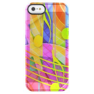 Groovy musikalisches abstraktes durchsichtige iPhone SE/5/5s hülle