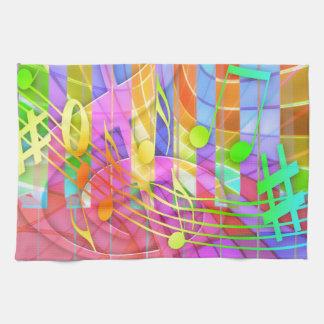 Groovy musikalisches abstraktes handtuch