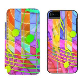 Groovy musikalisches abstraktes incipio watson™ iPhone 5 geldbörsen hülle