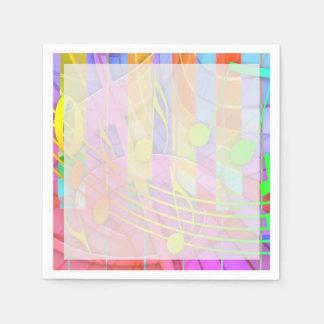 Groovy musikalisches abstraktes papierservietten