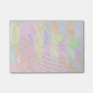 Groovy musikalisches abstraktes post-it haftnotiz