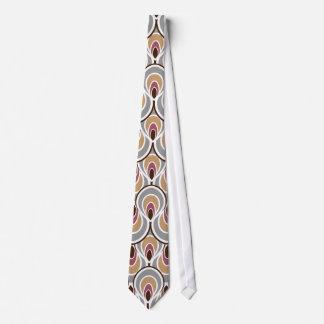 Groovy Retro Entwurf mit einer Kunst-Deko-Drehung Krawatten