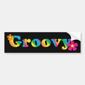 Groovy und Blumen-heller Farb60er Hippie-Entwurf Autoaufkleber