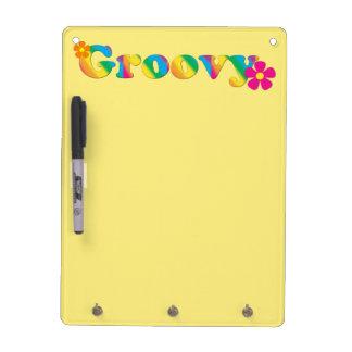Groovy und Blumen-heller Farb60er Hippie-Entwurf Trockenlöschtafel