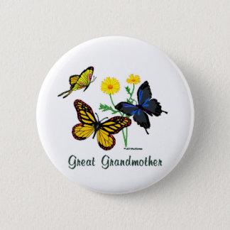 Groß - Großmutter Schmetterlinge Runder Button 5,7 Cm