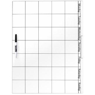 Groß mit Stift-trockenem Löschen-Brett mit Tagen Memoboards