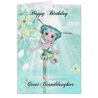 groß - niedliche feenhafte Geburtstagsgrüße der Karte
