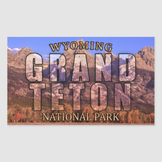 Großartige Teton Nationalpark-Aufkleber Rechteckiger Aufkleber