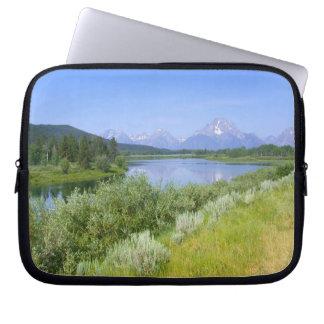 Großartige Tetons Landschaftslaptop-Hülsen Laptopschutzhülle