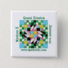 Großartiger Illusions-Button-Rückseitenknopf Quadratischer Button 5,1 Cm