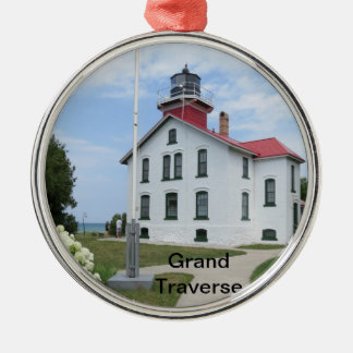 Großartiger Querleuchtturm Silbernes Ornament