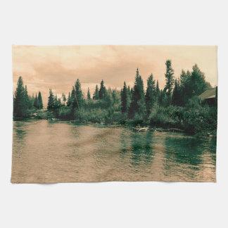 Großartiger Teton Nationalpark. Herrliche Handtuch