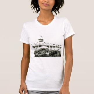 Großartiges Hotel, Mackinac Insel, Schwarzweiss T-Shirt