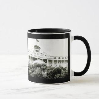 Großartiges Hotel, Mackinac Insel, Schwarzweiss Tasse