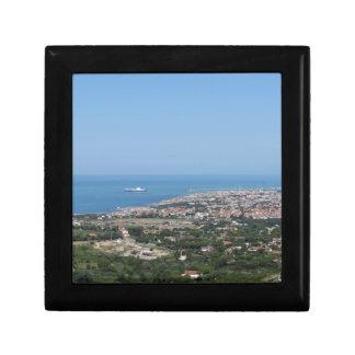 Großartiges Luftpanorama von Livorno-Stadt Geschenkbox