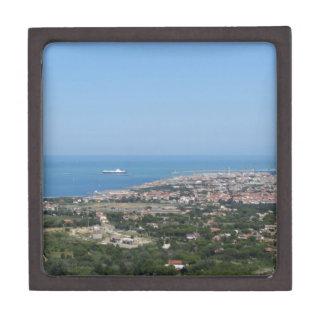Großartiges Luftpanorama von Livorno-Stadt Schmuckkiste