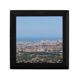 Großartiges Luftpanorama von Livorno-Stadt, Schmuckschachtel