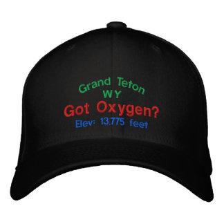 Großartiges Teton erhielt Sauerstoff? Gestickte Bestickte Baseballkappe