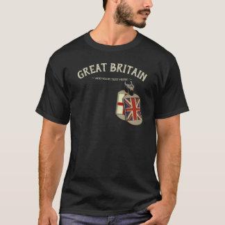 Großbritannien-Englisch-Erkennungsmarken T-Shirt