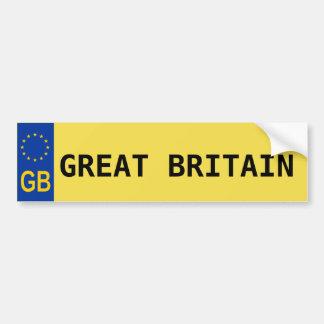 Großbritannien EU-Kfz-Kennzeichen-Aufkleber Autoaufkleber