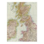 Grossbritannien, Irland - Karte von Postkarte